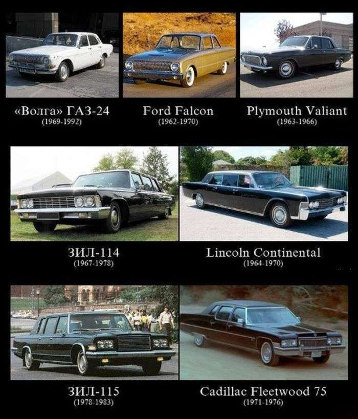 Вітчизняні автомобілі та їхні закордонні прототипи (6 фото)