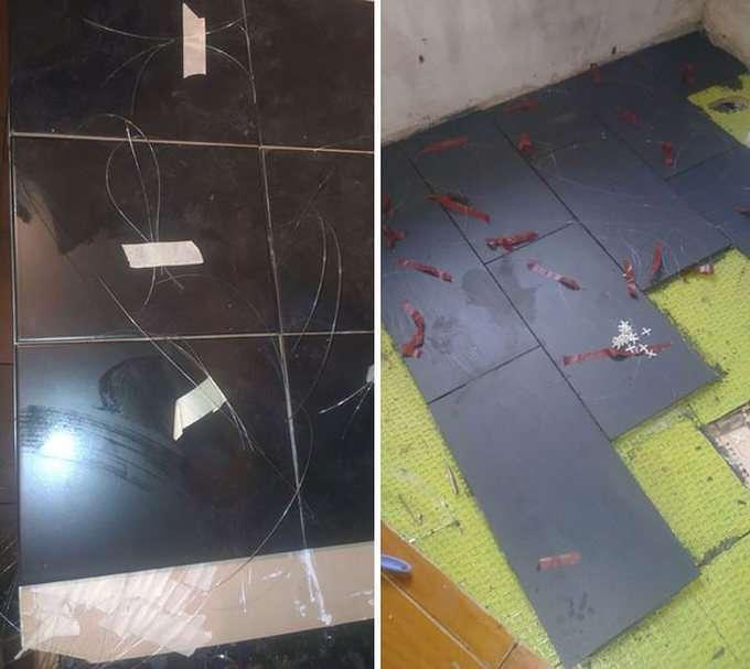 Нічне зоряне небо на підлозі ванної кімнати (5 фото)