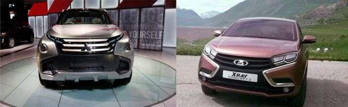 Головний дизайнер «Автовазу» звинувачує компанію Mitsubishi в плагіаті (3 фото)