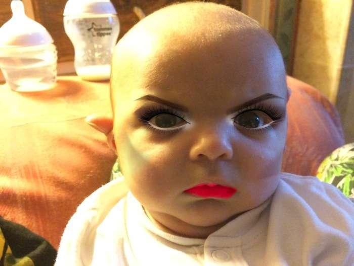 Немовля і макіяж (7 фото)