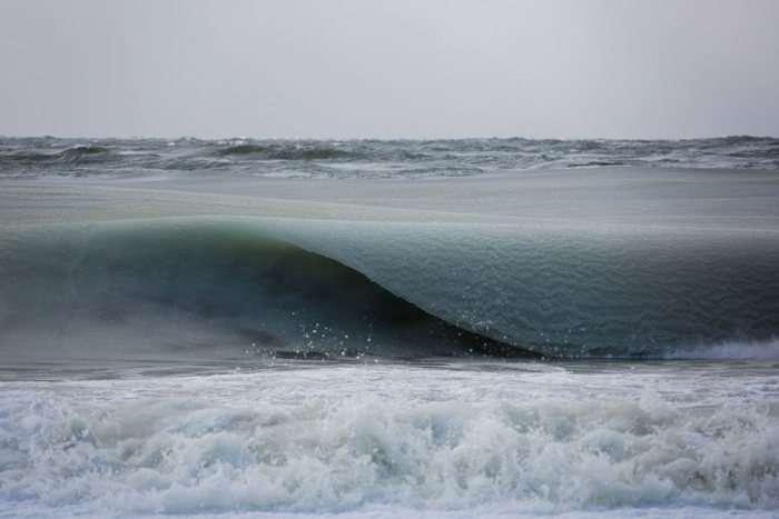 Замерзлі хвилі Атлантичного океану (5 фото)