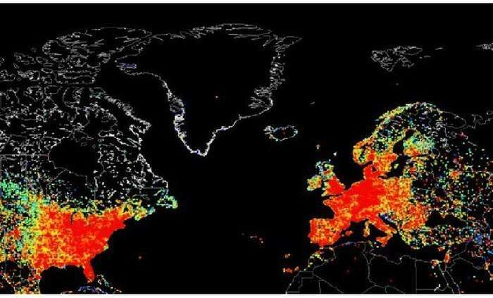 Глобальне використання інтернету на карті (5 фото)