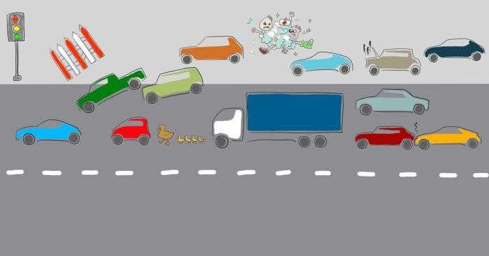 Невиправдані обїзд заторів по узбіччю і методи боротьби з ними (6 фото)