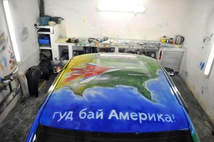 Мешканка Республіки Комі створила для свого батька патріотичний ВАЗ-2110 (15 фото)