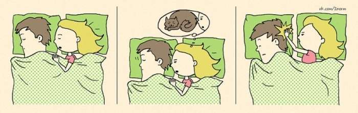 Забавні моменти сімейного життя в милому коміксі (25 картинок)
