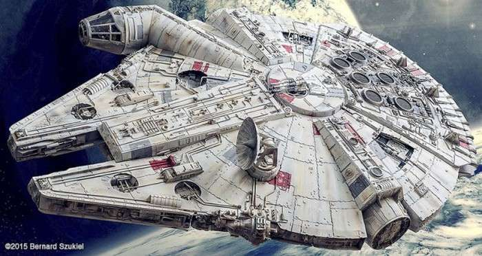 Суперреалистичный космічний корабель «Тисячолітній сокіл» з паперу (45 фото)