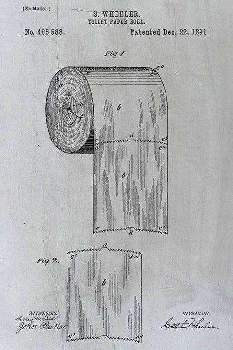 Оригінальний патент винахідника відривного рулону туалетного паперу поклав край тривалим суперечкам (3 фото)