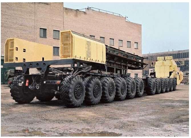 МАЗ-7907 - засіб транспортування і запуску міжконтинентальних ракет (5 фото)
